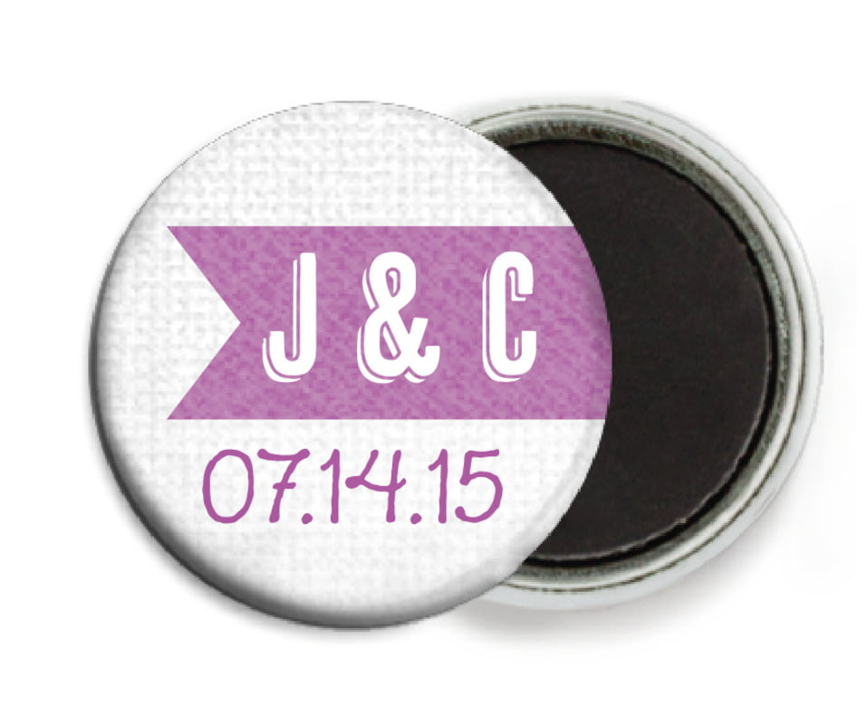 custom button magnets - radiant orchid - casual celebration (set of 6)