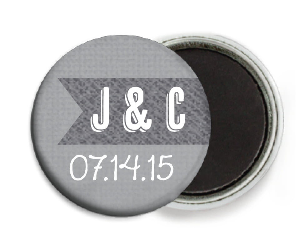 custom button magnets - stone - casual celebration (set of 6)