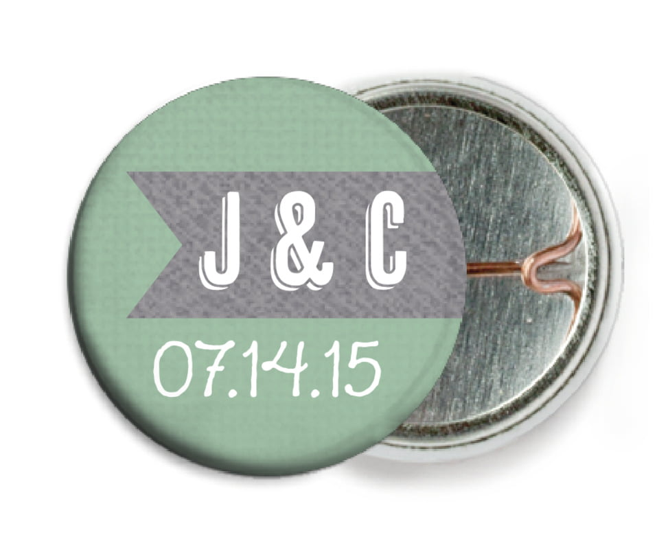 custom pin back buttons - mint - casual celebration (set of 6)