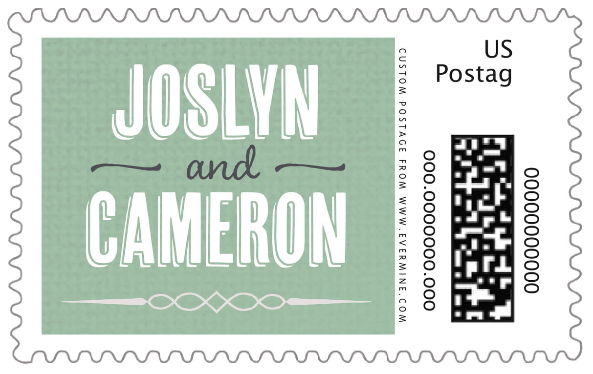 custom large postage stamps - mint - casual celebration (set of 20)