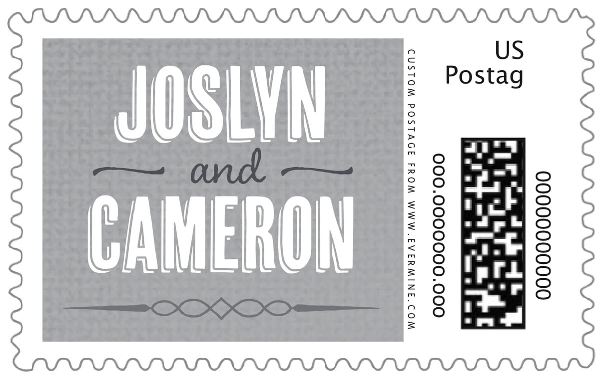 custom large postage stamps - stone - casual celebration (set of 20)