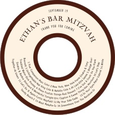 Classic Oldstyle bar/bat mitzvah CD/DVD labels