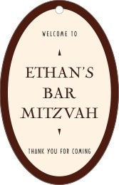Classic Oldstyle bar/bat mitzvah tags