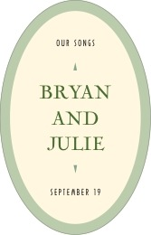 Classic Oldstyle tall oval labels