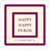 Classic Oldstyle purim coasters