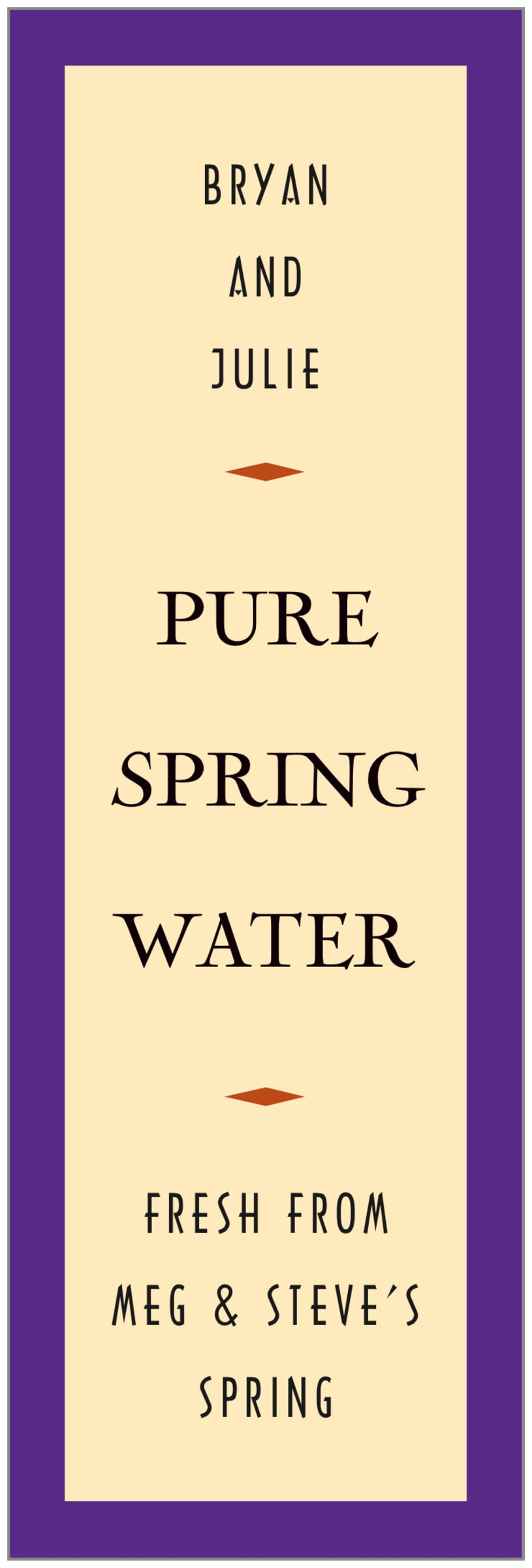 tall food/craft labels - purple - classic oldstyle (set of 14)