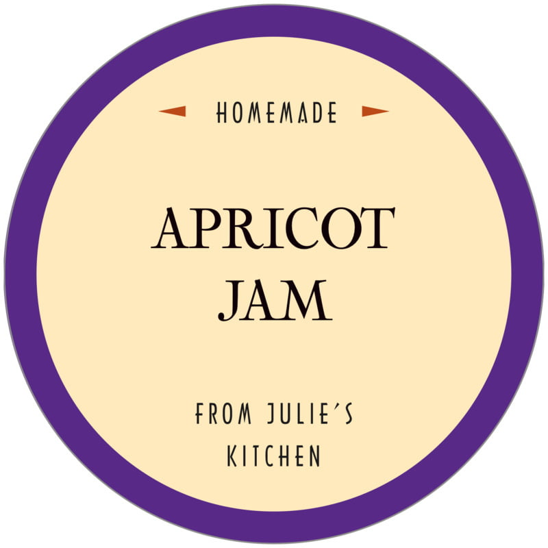 circle food/craft labels - purple - classic oldstyle (set of 12)