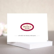 Classic Oldstyle note cards & envelopes