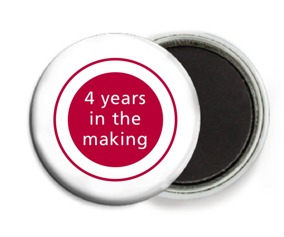 custom button magnets - deep red - cosmopolitan (set of 6)