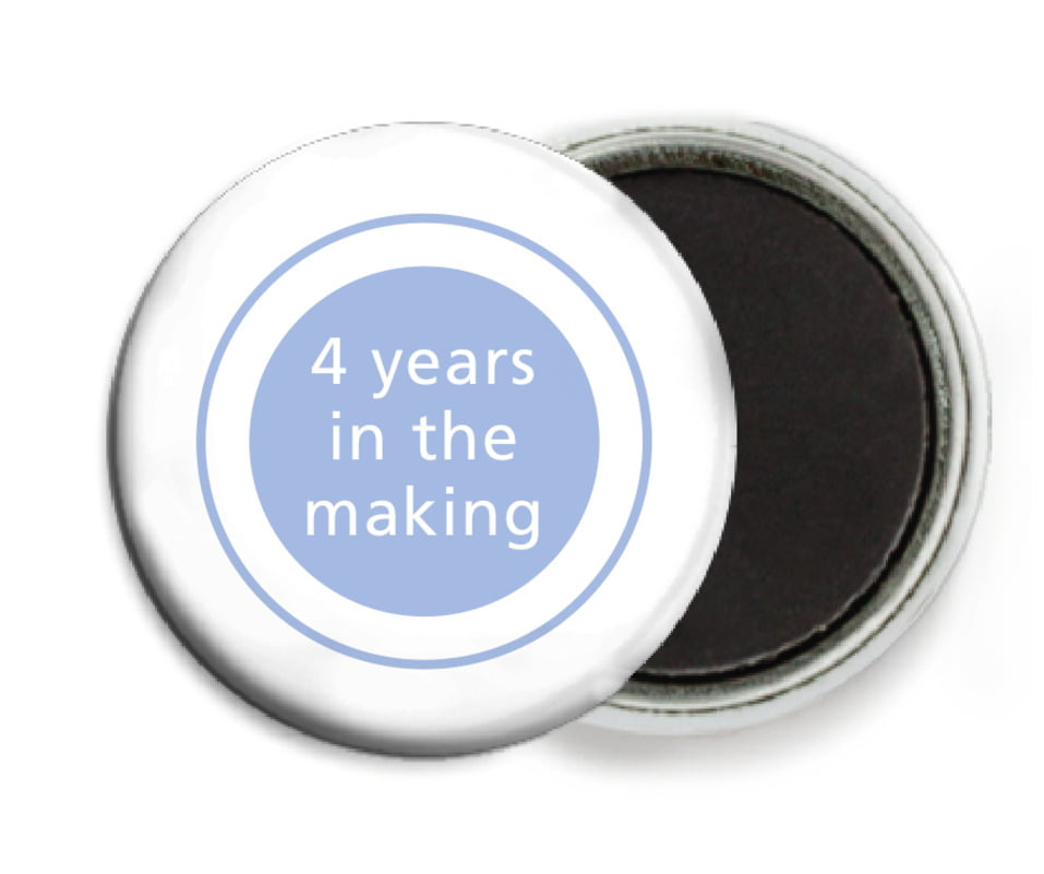 custom button magnets - periwinkle - cosmopolitan (set of 6)