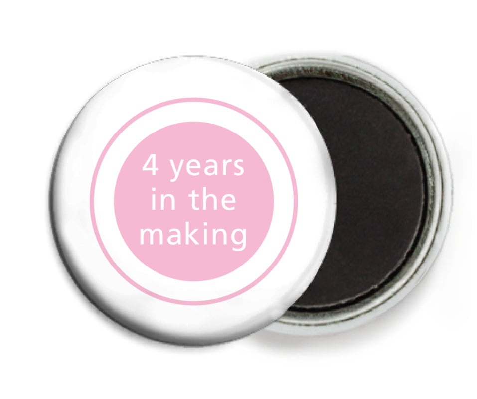 custom button magnets - pale pink - cosmopolitan (set of 6)