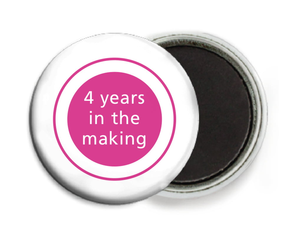 custom button magnets - bright pink - cosmopolitan (set of 6)