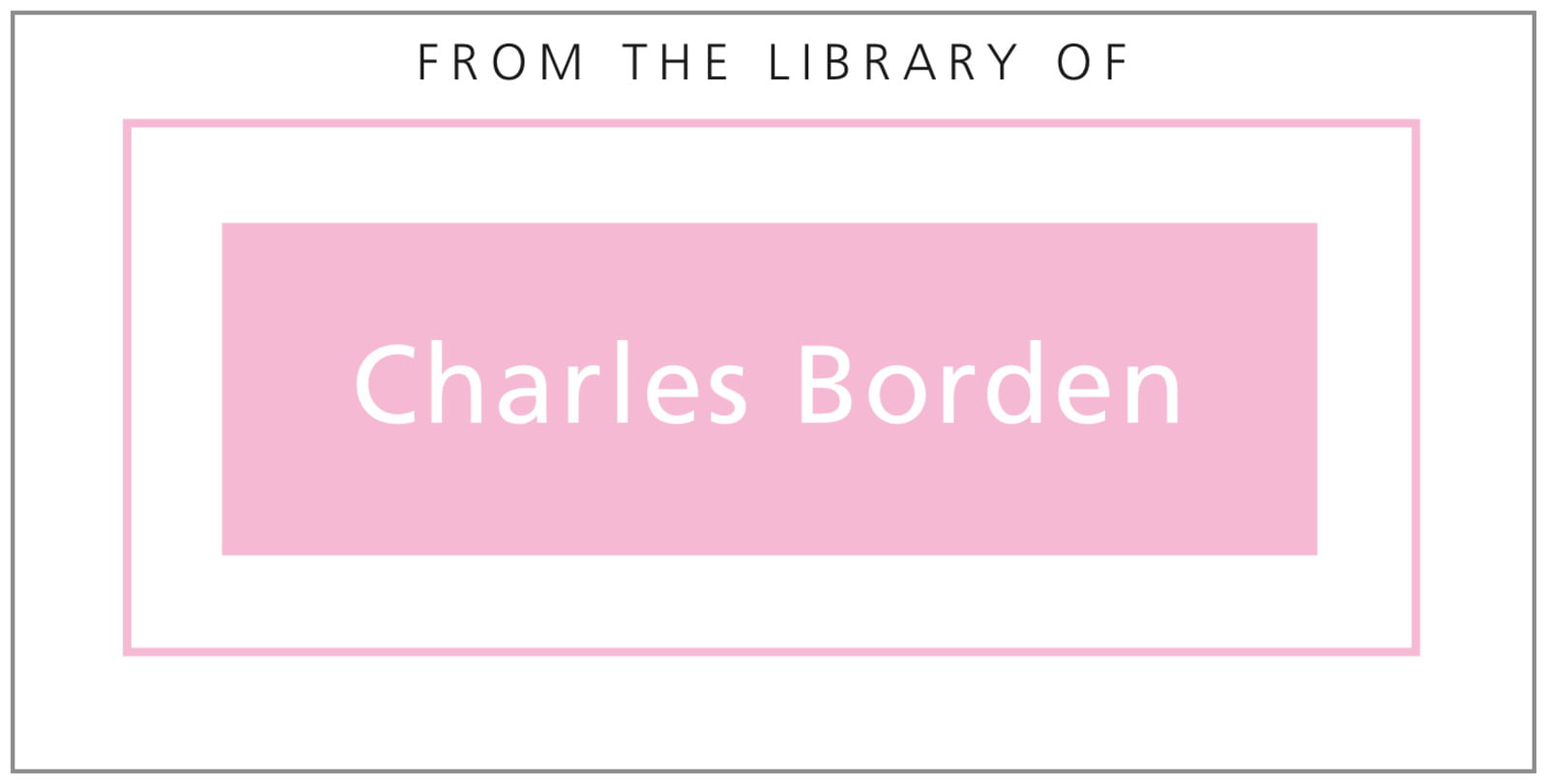 bookplates for everyone - pale pink - cosmopolitan (set of 24)
