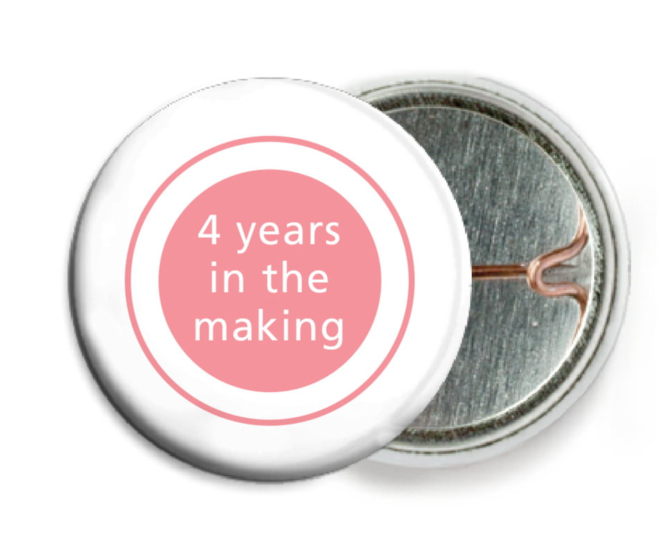 custom pin back buttons - grapefruit - cosmopolitan (set of 6)