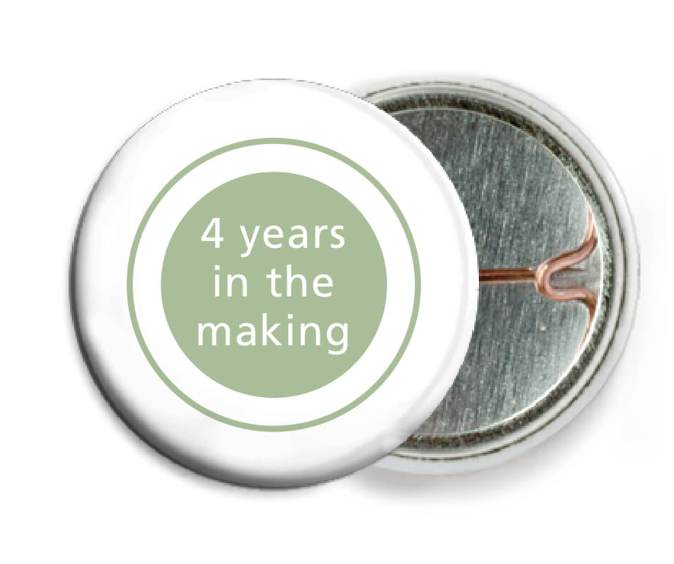 custom pin back buttons - sage - cosmopolitan (set of 6)