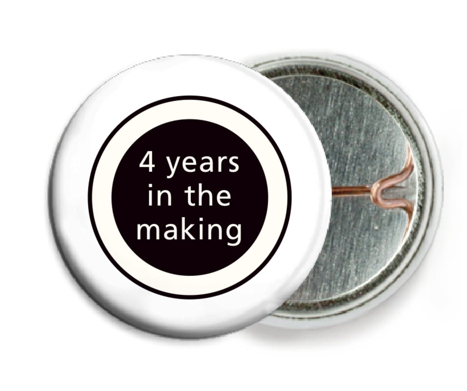 custom pin back buttons - tuxedo - cosmopolitan (set of 6)