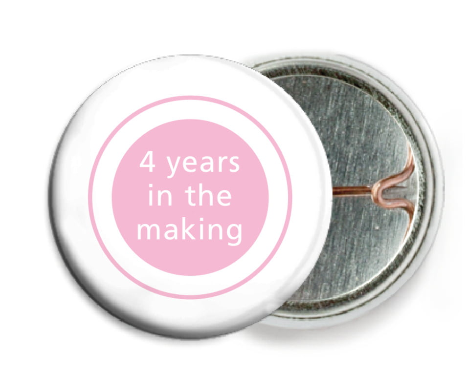 custom pin back buttons - pale pink - cosmopolitan (set of 6)