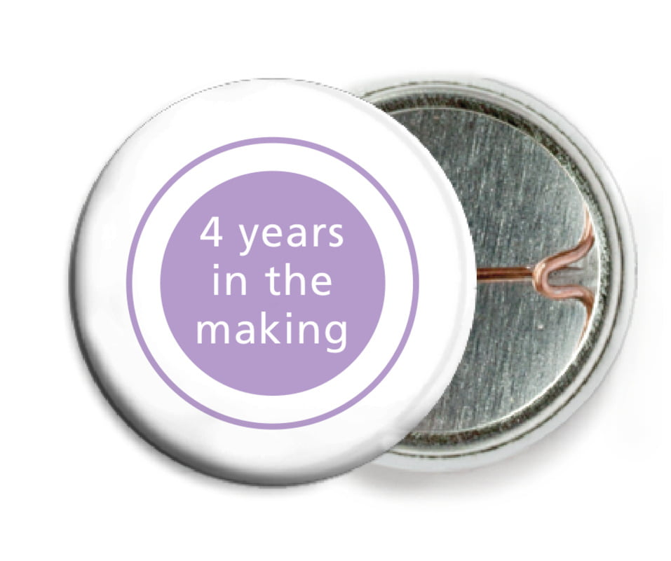 custom pin back buttons - lilac - cosmopolitan (set of 6)