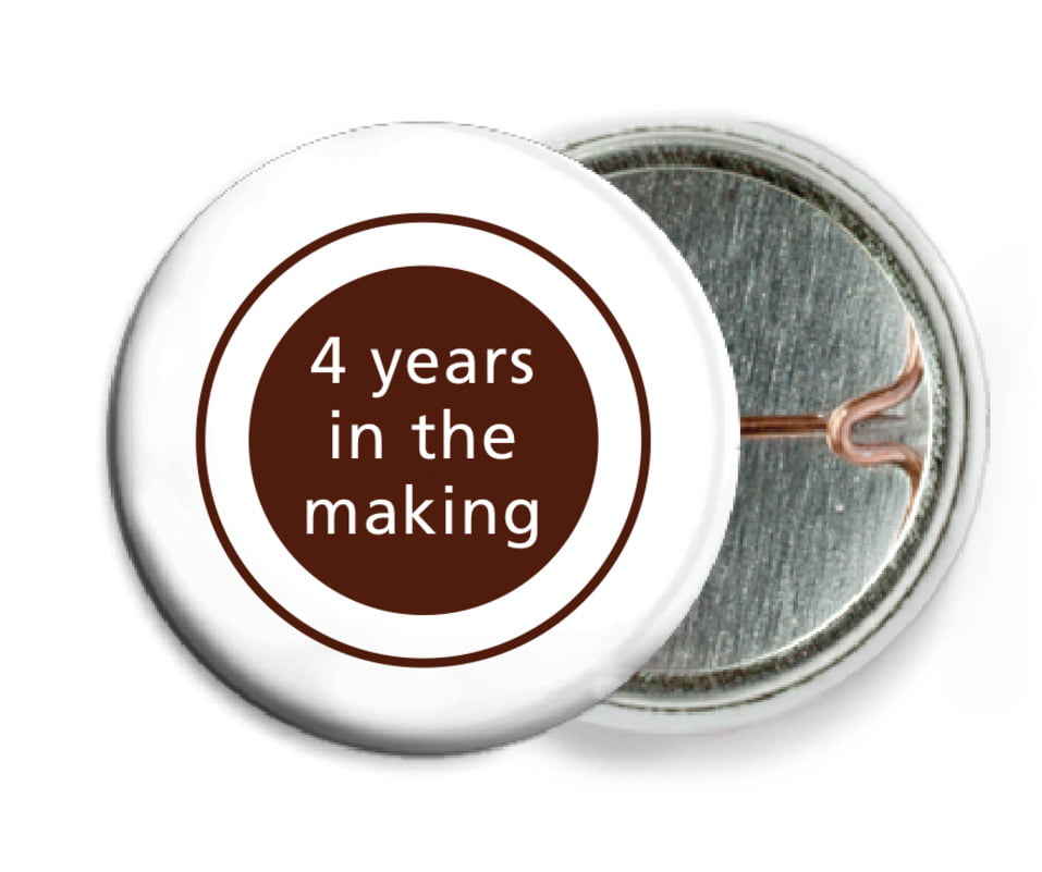 custom pin back buttons - chocolate - cosmopolitan (set of 6)