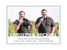 custom save-the-date cards - deep blue - cosmopolitan (set of 10)