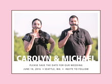 custom save-the-date cards - cocoa & pink - cosmopolitan (set of 10)