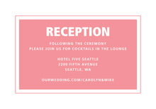 custom enclosure cards - grapefruit - cosmopolitan (set of 10)