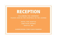 custom enclosure cards - tangerine - cosmopolitan (set of 10)