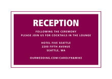 custom enclosure cards - burgundy - cosmopolitan (set of 10)