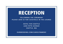 custom enclosure cards - deep blue - cosmopolitan (set of 10)
