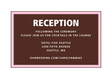 custom enclosure cards - cocoa & pink - cosmopolitan (set of 10)