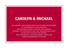 custom invitations - deep red - cosmopolitan (set of 10)