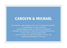 custom invitations - blue - cosmopolitan (set of 10)