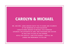 custom invitations - bright pink - cosmopolitan (set of 10)