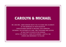 custom invitations - burgundy - cosmopolitan (set of 10)