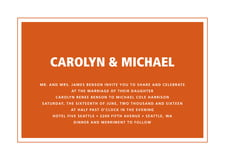 custom invitations - spice - cosmopolitan (set of 10)
