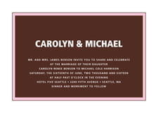 custom invitations - cocoa & pink - cosmopolitan (set of 10)