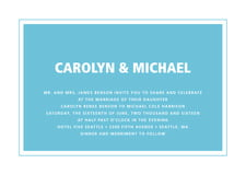 custom invitations - sky - cosmopolitan (set of 10)