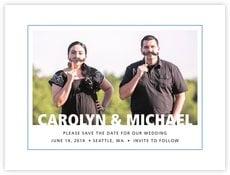 Cosmopolitan save the date cards