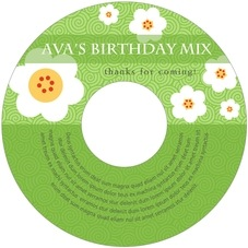 China Blossom Cd Label In Lime