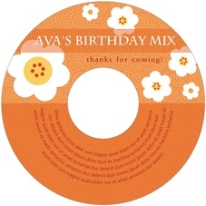 China Blossom kid/teen birthday CD/DVD labels