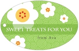 China Blossom wide oval hang tags