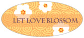 China Blossom oval labels