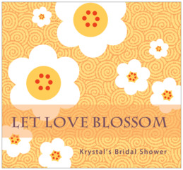 China Blossom large rectangle labels