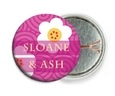 China Blossom pin back buttons