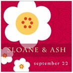 China Blossom square labels