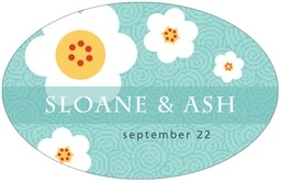 China Blossom large oval labels