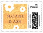 China Blossom small postage stamps