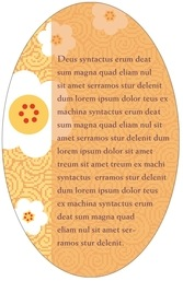 China Blossom oval text labels