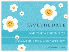 China Blossom save the date cards