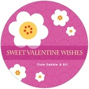 China Blossom valentine's day coasters